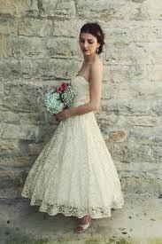 vintage lace tea length wedding dresses weddingcafeny com