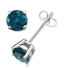 blue diamond stud earrings aonejewelry best value source for gemstone and diamond jewelry
