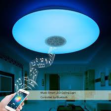 Esszimmer Deckenleuchten Led Autai Led Deckenleuchte Mit Bluetooth Lautsprecher Amazon De