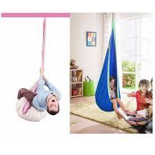 children cotton hammock pod swing chair kid hanging seat portable