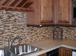 Kitchen With Glass Tile Backsplash Brilliant Kitchen Tile Backsplash Remodeling Intended For Rustic