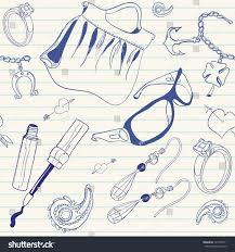 Fashion Stuff Doodles Fashion Stuff Stock Vector 121554511 Shutterstock
