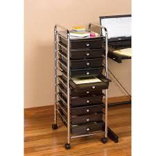 seville classics 10 drawer organizer cart black chrome walmart com