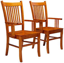 amazon com coaster set of 2 dining arm chairs mission style
