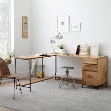 industrial modular desk set west elm