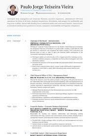 chairman of the board resume samples visualcv resume samples