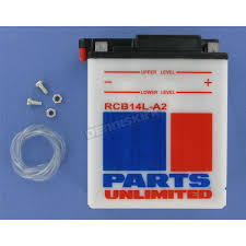 parts unlimited heavy duty 12 volt battery rcb14la2 atv dirt