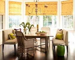 dining room awesome dining banquette with chandelier and wood