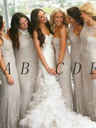 silver wedding dresses for brides silver bridesmaid dresses silver gowns