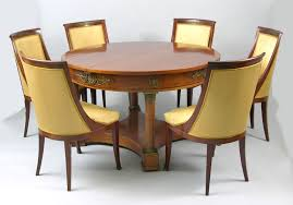 Style Chairs An Empire Style Dining Table And Six Chairs Ca 19th Century 11 21