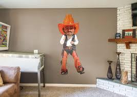 pistol pete oklahoma state cowboys mascot wall decal shop