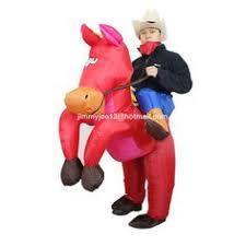 inflatable horse riding cowboy costume suit fancy dress