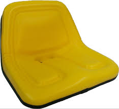 John Deere Rocking Chair Steel High Back Yellow Black Blue Seats Lawn Mowers Tractors