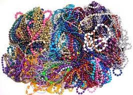 mardi gras beaded necklaces lot of 97 mardi gras bead necklaces
