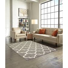 trellis 2 color shag grey stone area rug maples rugs