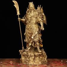 usd 73 00 a light copper guan guan xiangtai large bronze