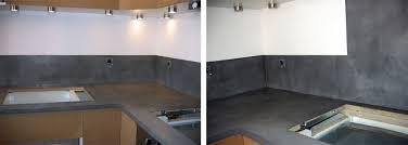 plan de travail cuisine en béton ciré beton ciré sur plan de travail cuisine avis