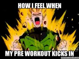 Dbz Gym Memes - what s in my cheap ass home made pre workout supplement