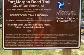 Interior Signs Trail Fort Morgan Road Trail Alabama Trails Traillink Com