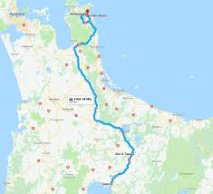 Std Map 09 01 2018 From Taupo To Cooks Beach U2013 Vakantio