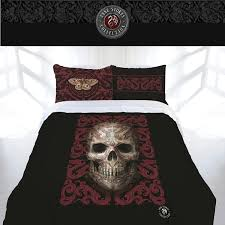 oriental skull quilt cover set by anne stokes gothic doona quilt