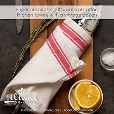 amazon com 6 kitchen towels 18x28 100 cotton vintage
