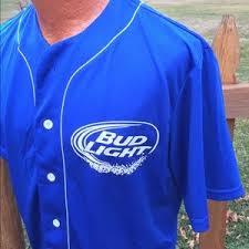 bud light baseball jersey 79 off official shirts bud light baseball jersey style shirt size