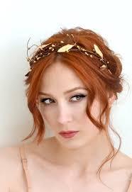 grecian headband leaf crown gold bridal crown grecian goddess