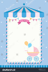 baby shower invitation cute template card stock vector 646112284