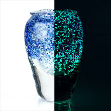 Dark Blue Glass Vase Glow In The Dark Glass Vase Sculpture 215864 Jean Claude