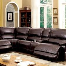 furniture of america modern recliner sectional console l shape
