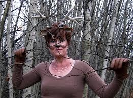 diy deer costume plus how to make faux antlers random housewifery