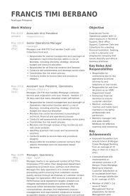 Vp Finance Resume Examples Associate Vice President Resume Samples Visualcv Resume Samples