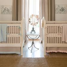light blue linen crib bumper carousel designs