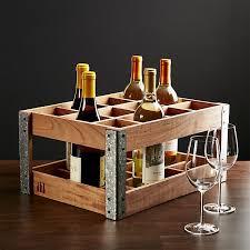 wine rack crate and barrel