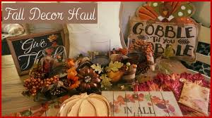 fall autumn 2016 home decor haul harvest time youtube