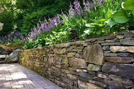 Bush Rock Garden Edging Rock Walls Garden Garden Ideas A Sandstone Bush Rock Wall River