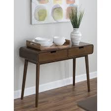 mid century entry table belham living carter mid century modern console table hayneedle
