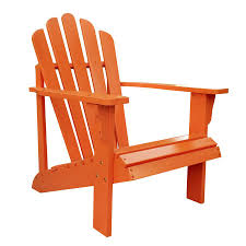 Westport Chair Shop Shine Company Westport Tangerine Cedar Patio Adirondack Chair
