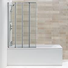 hydro 4 panel folding bath screen bathrooms at bathshop321 hydro 4 panel folding bath screen