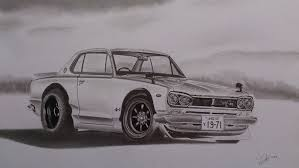 c10 drawing datsun skyline hakosuka c10 gt pinterest