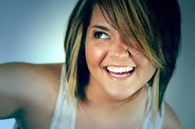 hair highlighted in front your short layered hair blonde highlights front side medium hair
