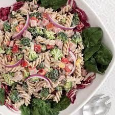 pasta salda broccoli ham u0026 pasta salad recipe eatingwell