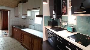 renovation cuisine bois avant apres moderniser une cuisine en bois crdence carreaux de ciment