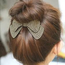 bun accessories boutique accessories high bun bow in studded burgundy glam hair