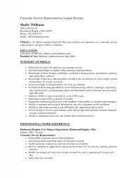Resume Objective Or Summary Customer Service Resume Objective Resume Templates