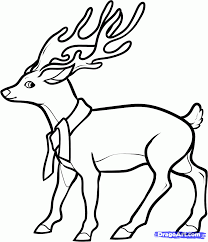 9 how to draw a christmas deer
