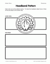 headband pattern printable thanksgiving arts crafts activity