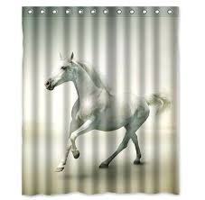 horse head shower curtain hooks custom beautiful horse printed 100