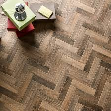 Herringbone Laminate Flooring Herringbone Brown Wood Tiles Porcelain Superstore